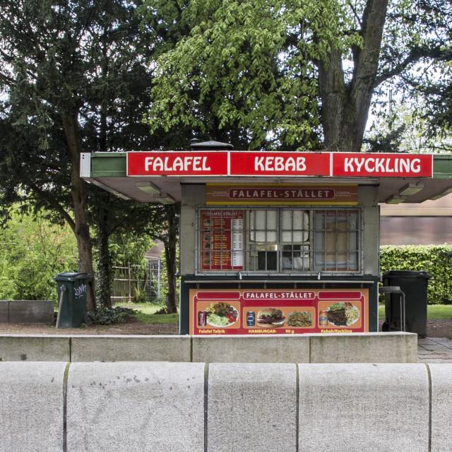 """Falafel kiosk"" stock image"