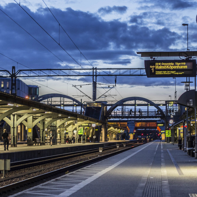 """""""Railway station blue hours"""" stock image"""