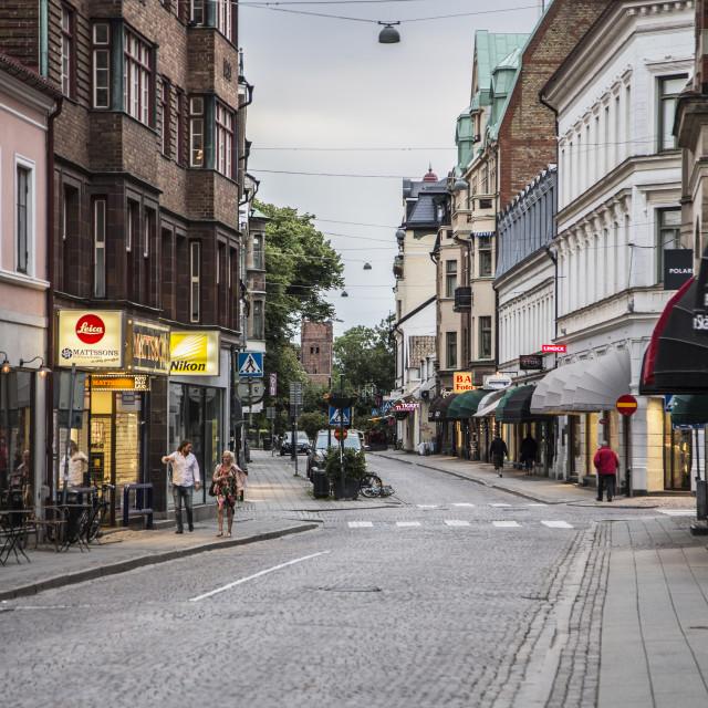 """Evening street"" stock image"