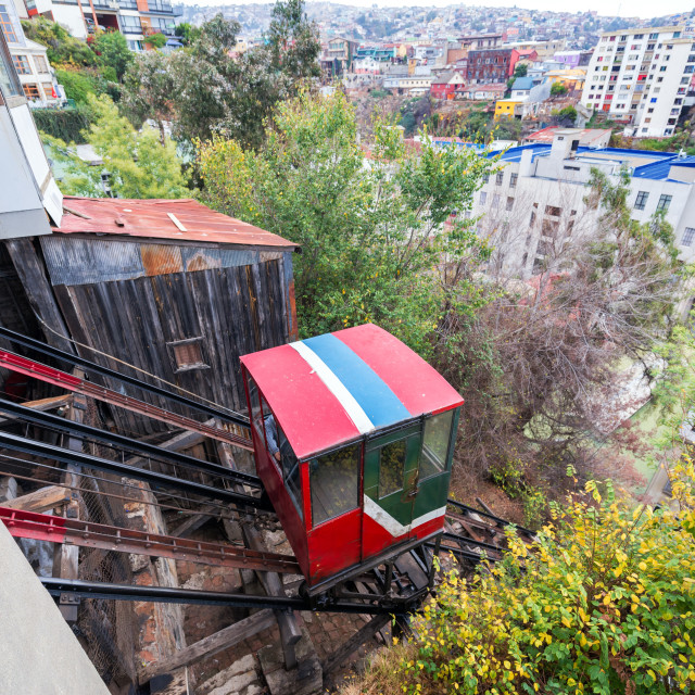 """Valparaiso Funicular"" stock image"