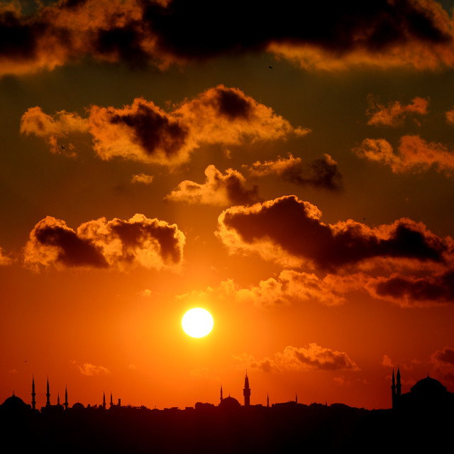 """Sunset in İstanbul"" stock image"