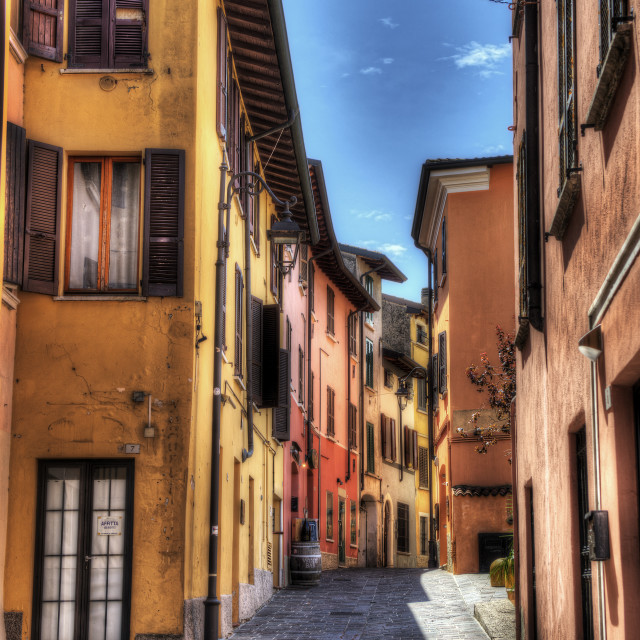 """colorful alleys"" stock image"