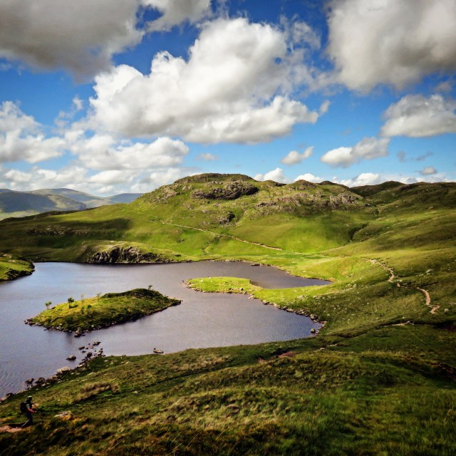 """'Angle Tarn' in the English Lake District"" stock image"