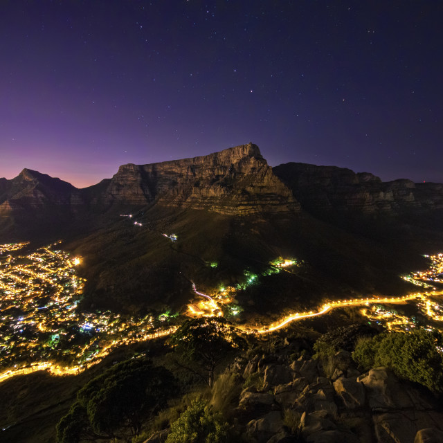 """Table Mountain"" stock image"