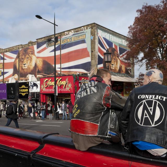 """Punk Rockers, Camden Town, London"" stock image"