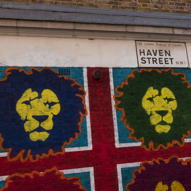 """""""Haven Street, Camden Market"""" stock image"""