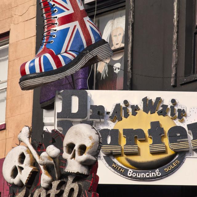 """""""The Original Dr Martens Store, Camden"""" stock image"""