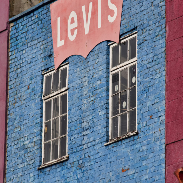 """Levi's Shop, Camden High Street"" stock image"
