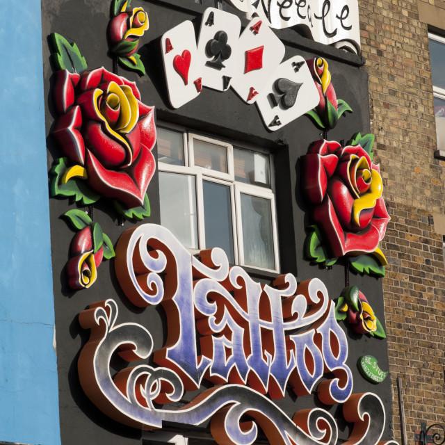 """Camden High Street, Camden Town, North London, Britain - Oct 2009"" stock image"
