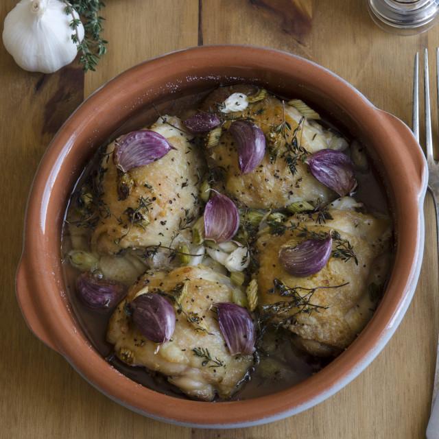 """Garlic chicken"" stock image"