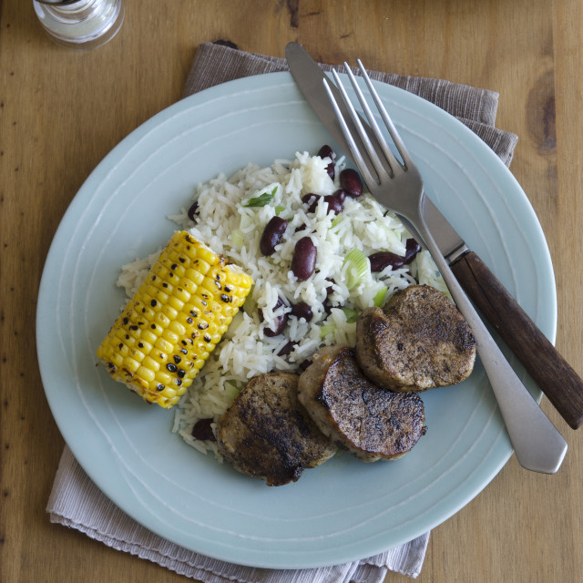 """Jerk Pork Medallions"" stock image"