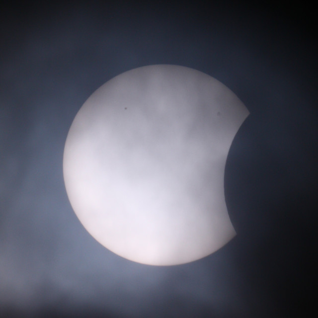 """2015 solar eclipse"" stock image"