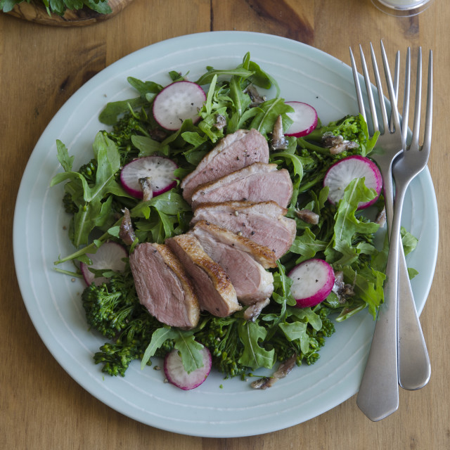 """""""Duck and vegetable salad"""" stock image"""
