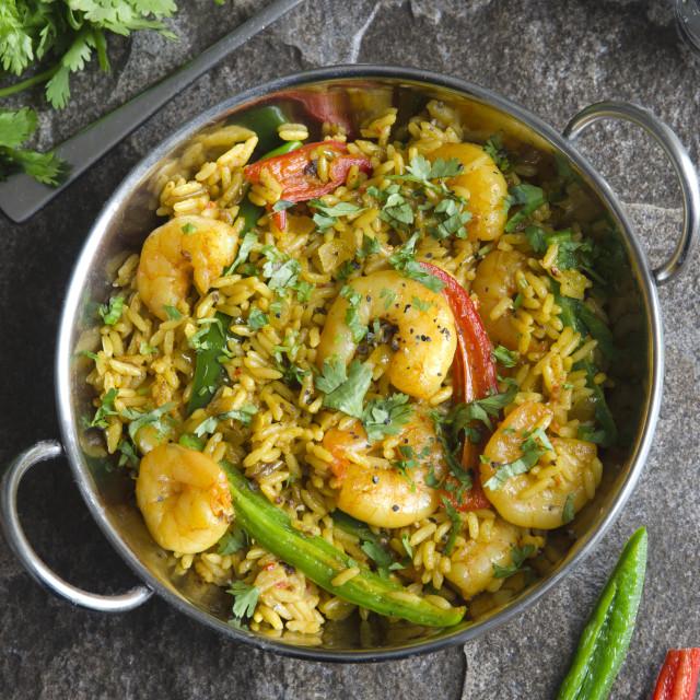 """Indian prawn curry"" stock image"