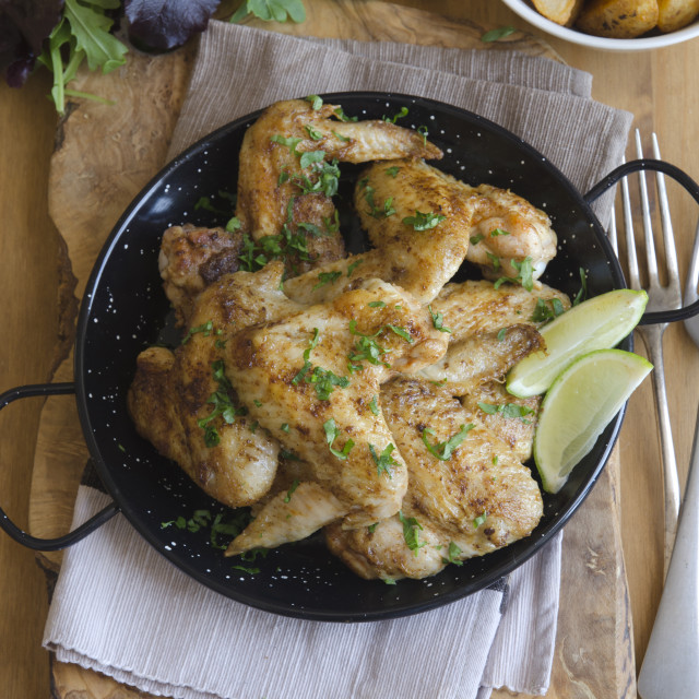 """Peri-peri chicken wings"" stock image"