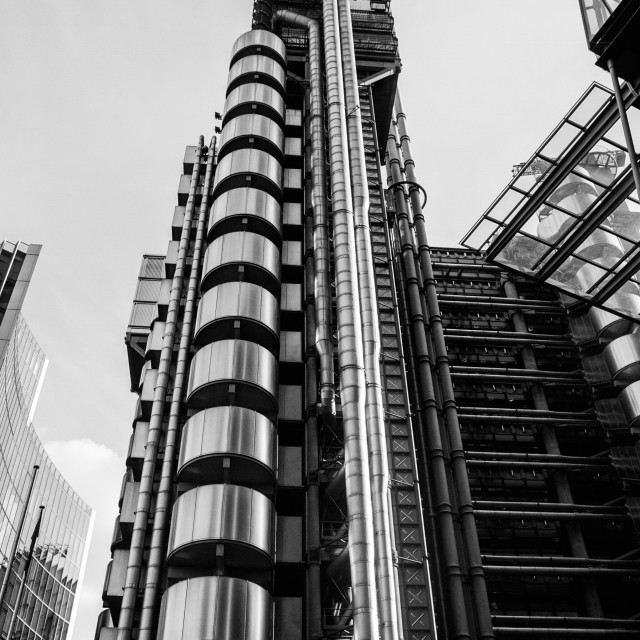 """Lloyds in BW"" stock image"