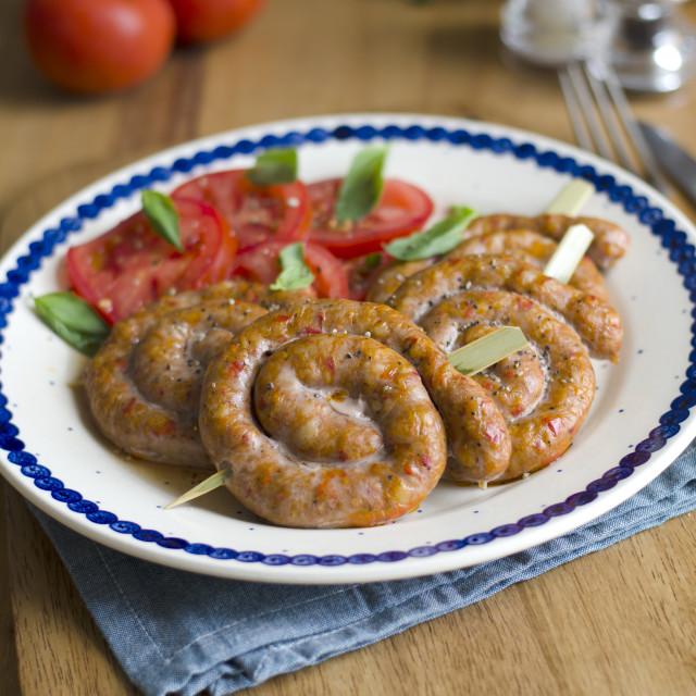 """""""Sausage whorls"""" stock image"""