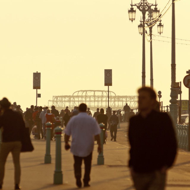 """Brighton Sea Front at Dusk"" stock image"