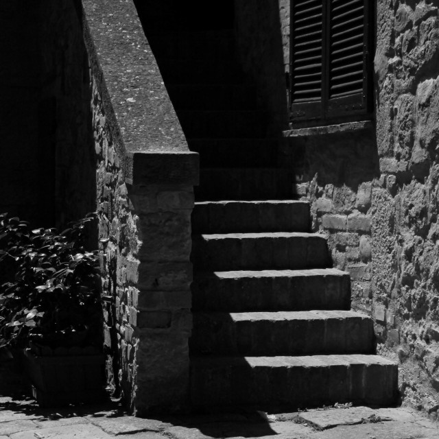 """Stairs B/W"" stock image"