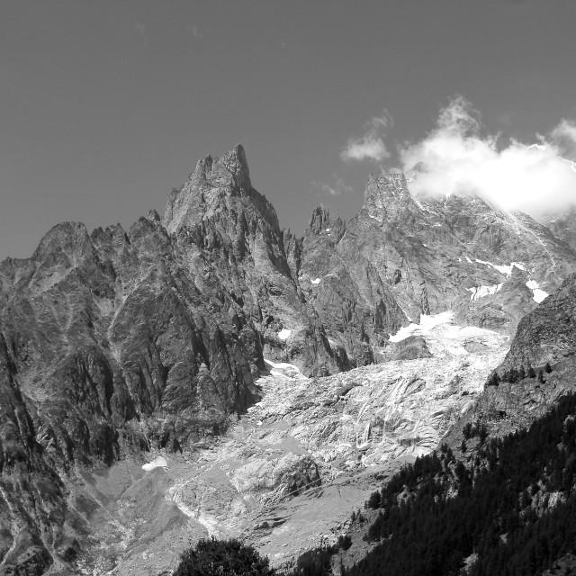 """Mont Blanc 12 pm"" stock image"