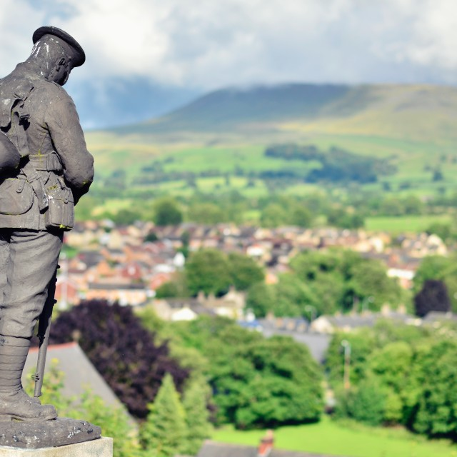"""Unknown Soldier, Pendle Hill, Clitheroe"" stock image"