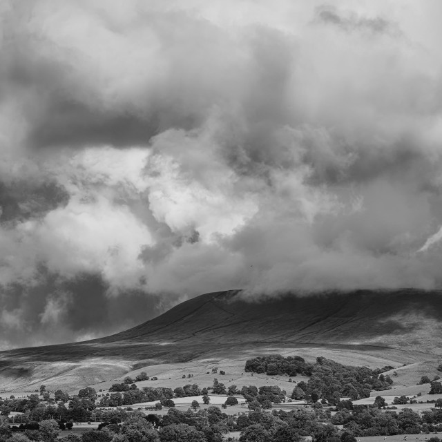 """Pendle Hill, Clitheroe, cloud max"" stock image"
