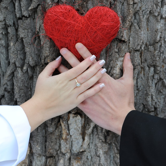 """Hands on heart"" stock image"