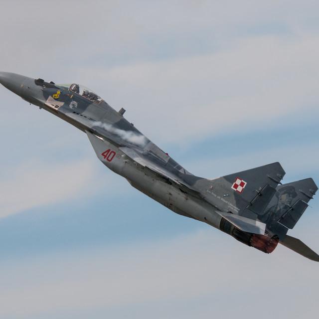 """Mikoyan-Gurevich MiG-29"" stock image"