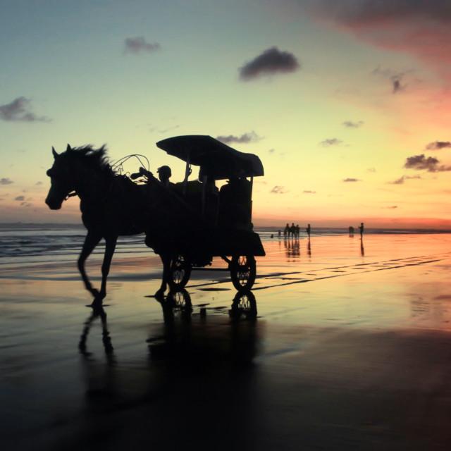 """Sunset in Parangtritis"" stock image"