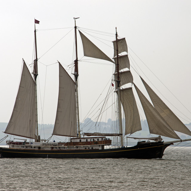 """Tall Ship (Golden Lecuw( (I)"" stock image"