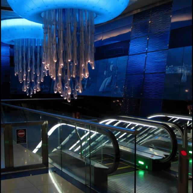 """The Dubai underground 1"" stock image"