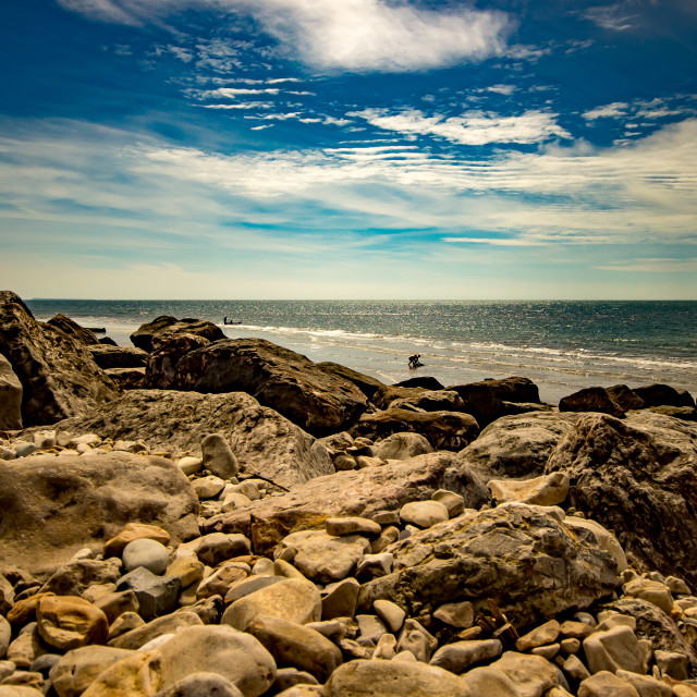 """Charmouth Coastline"" stock image"