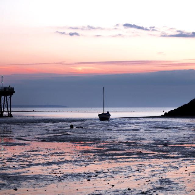 """Beach sunset."" stock image"