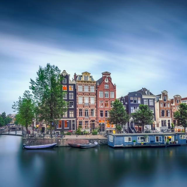 """Calm Amsterdam"" stock image"