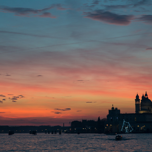 """venice's sunset"" stock image"