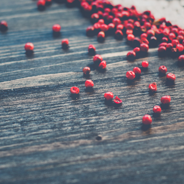 """""""Pink Pepper and Sea Salt"""" stock image"""