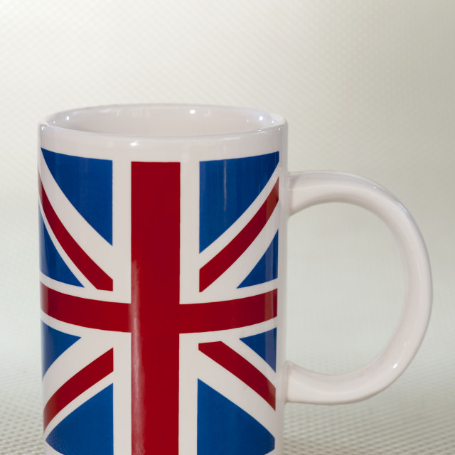 """""""Union Jack Design Mug"""" stock image"""