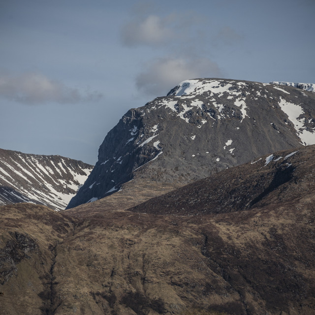 """Ben Nevis with Snow"" stock image"
