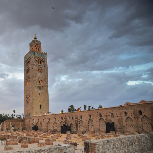 """""""Mosque of Koutoubia in Marrakech, Morocco"""" stock image"""