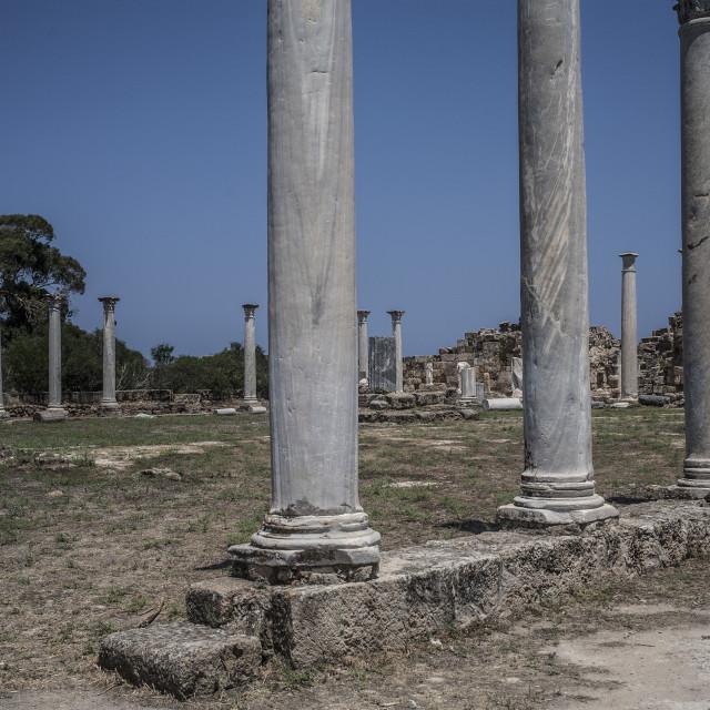 """Salamis Columns"" stock image"