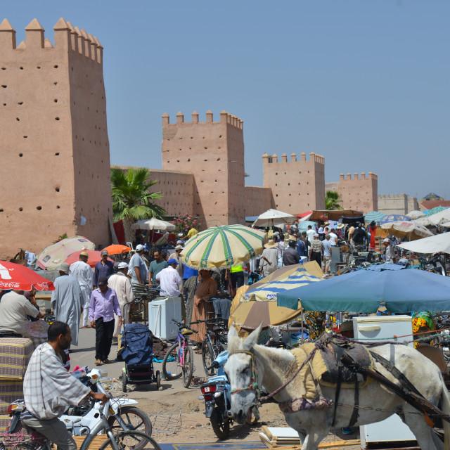 """City palace walls of Marrakesh-Morocco"" stock image"