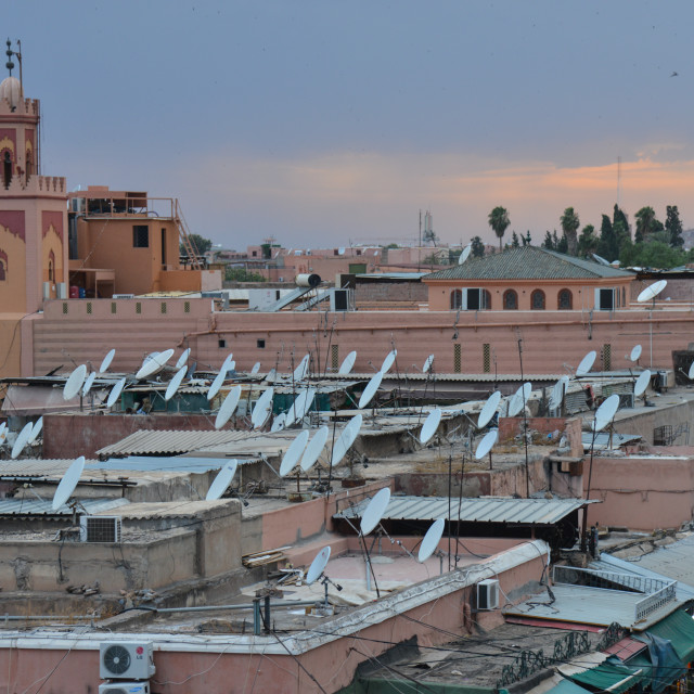 """Djemaa El Fna, Marrakech, Morocco"" stock image"