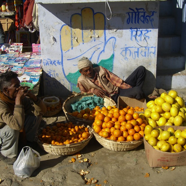 """The orange seller"" stock image"
