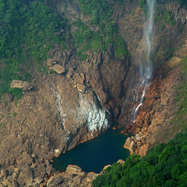 """Nowkhalikai Falls"" stock image"