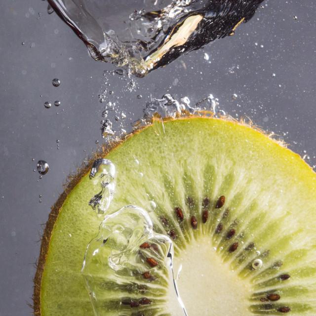 """""""Kiwi Splash"""" stock image"""