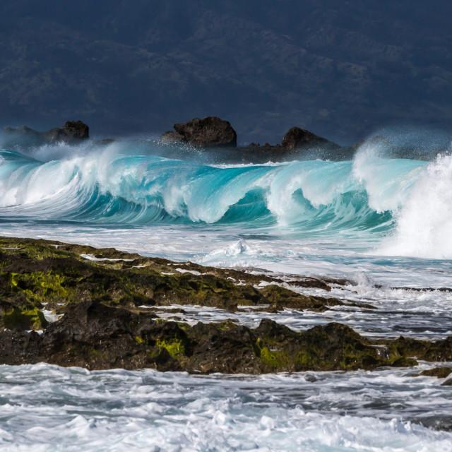 """Heavy shorebreak"" stock image"