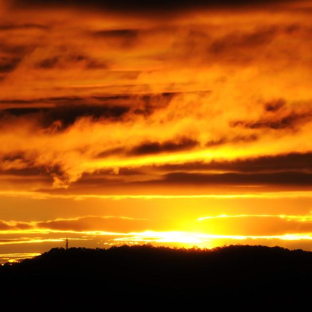 """Sunset, Australia"" stock image"
