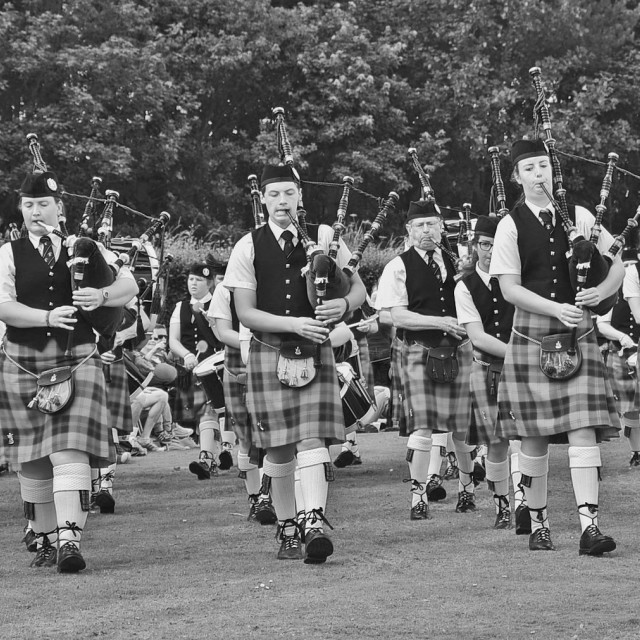 """Pipe Band"" stock image"