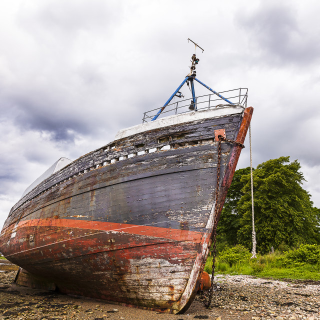 """A Beached Boat"" stock image"