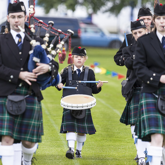 """The Dingwal Pipe Band"" stock image"